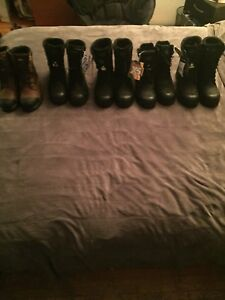 Steel Toe Boots  4 pairs ( sizes 8,10,11