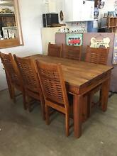 INCREDIBLE 7PCE INDIAN TEAK DINING SETTING - $529/SET Palm Beach Gold Coast South Preview