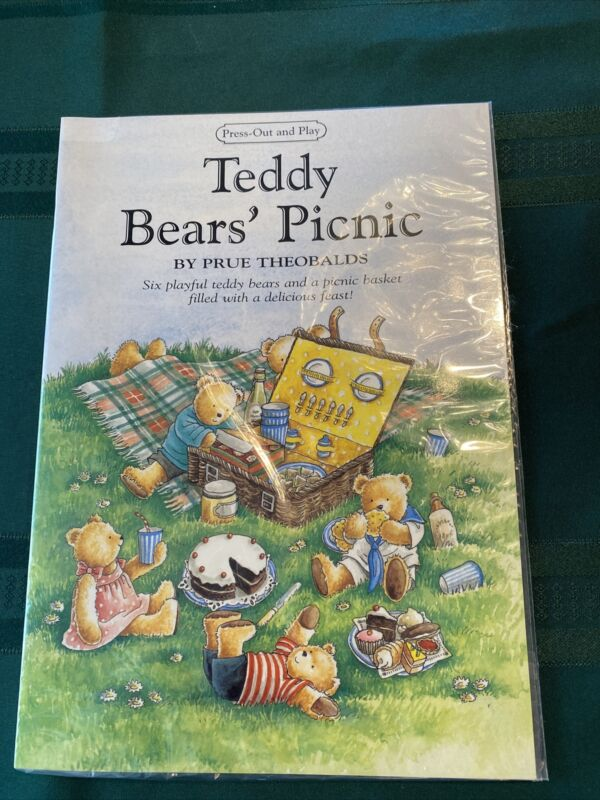 """""""The Teddy Bears Picnic"""" Prue Theobalds Press-Out and Play ACTIVITY BOOK 1986"""
