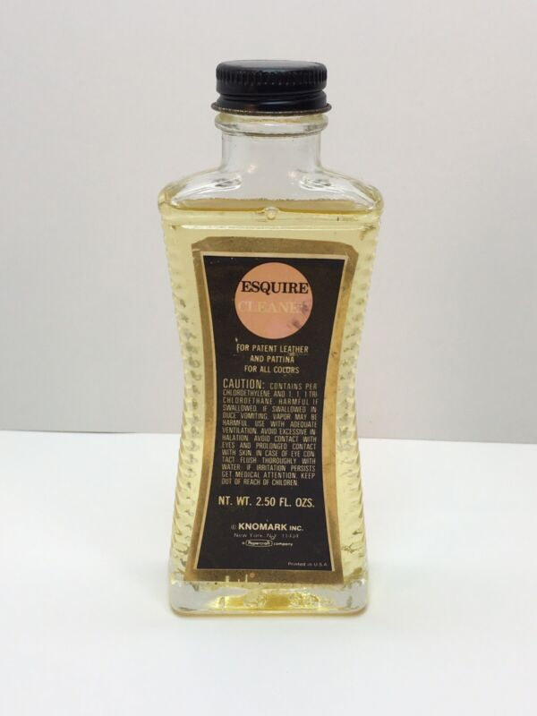 Vintage 1971 Knomark Esquire Cleaner for Patent Leather Pattina all Colors