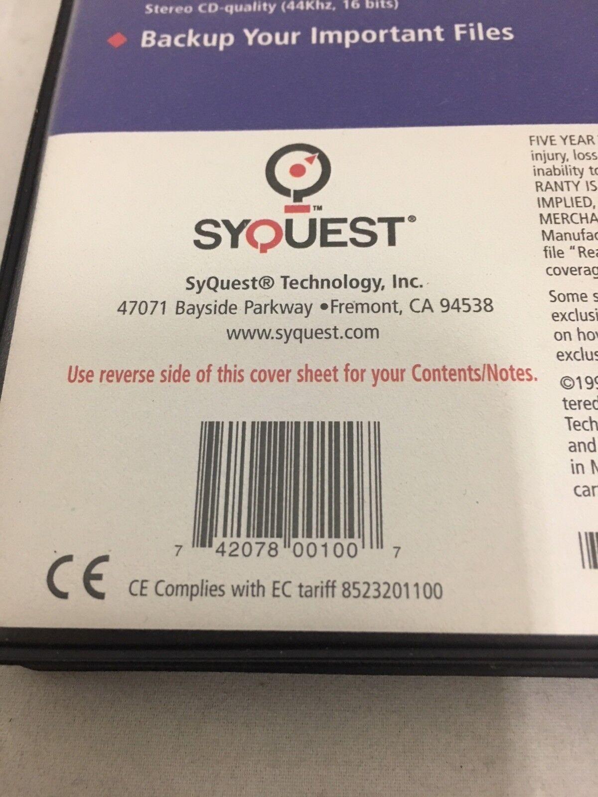 как выглядит Дисковод для гибкого магнитного диска (дискеты) Syquest SparQ 1.0GB Hard Disk PC Formatted Starter Disk фото