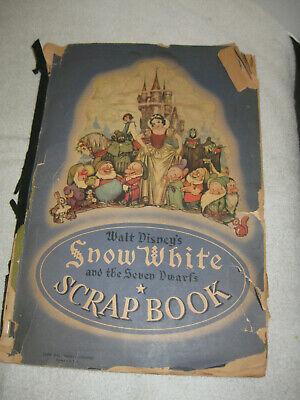 HUGE Vintage 1930's Snow White Scrap Book Of The Dionne Quintuplets