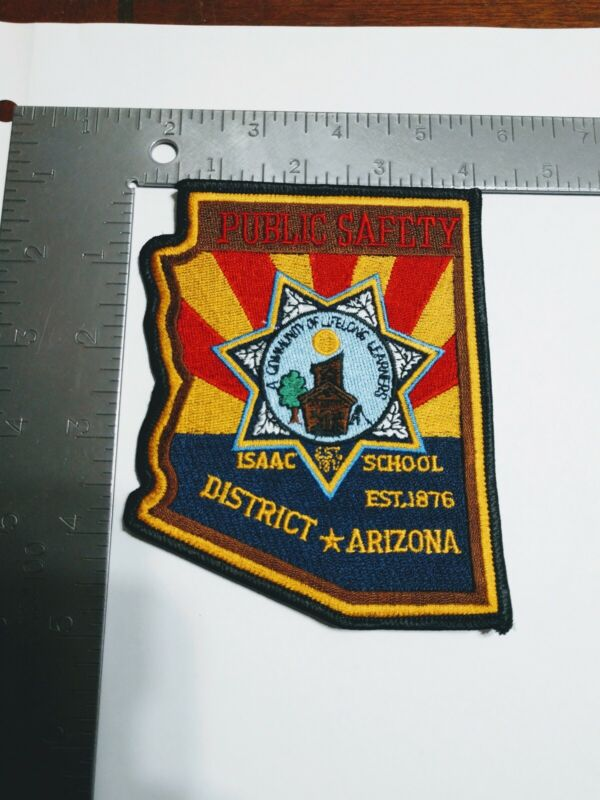 G Police patch patches Arizona public safety Isaac school district