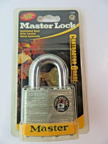 Master Lock Contractor Grade Laminated Steel Dual Locking Padlock 17DPF NEW
