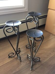 Partylite pillar candle stand
