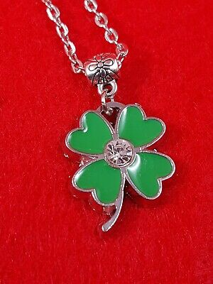 Four Leaf Clover Hearts Enamel Pendant Necklace Stylish Fashion Lucky Charm HOT - Four Hearts Necklace