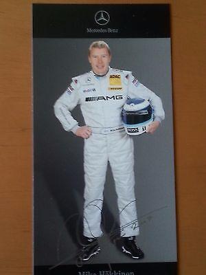 Mika Häkkinen DTM 2007 Autogrammkarte gedruckte Unterschrift von Mercedes-Benz