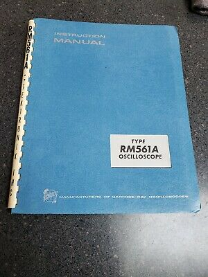 Tektronix Rm561a Oscilloscope Instruction Manual 070-352