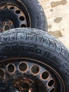 """16"""" 5x100 steelies with continental winter tires  St. John's Newfoundland image 2"""