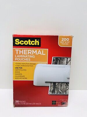 Scotch Letter Size Thermal Laminating Pouches 200pack Mmmtp3854200