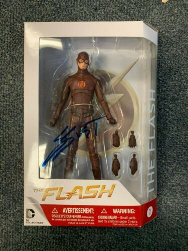 CW DC The Flash Grant Gustin Autographed Signed Action Figure COA