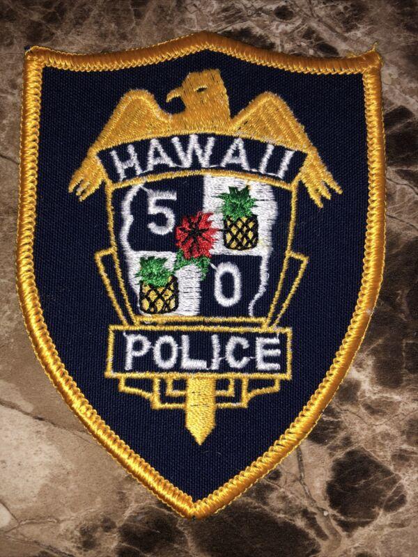 Vintage Hawaii 5-O Police Shoulder Patch