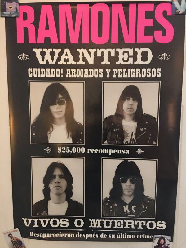 Ramones Wanted Poster Rare OOP