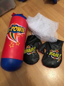 Kids mini boxing gloves punching bag $2