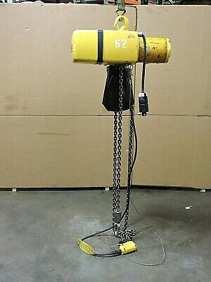 Yale Electric Chain Hoist Kel1-15th42s1 2000lbs 1 Ton 230460v 3ph