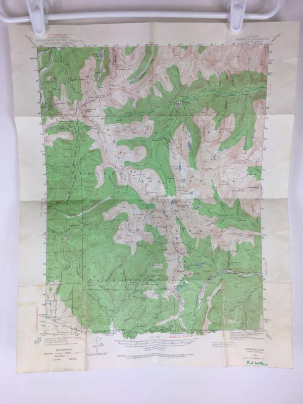 1940 USGS Topographic Map Garfield Colorado CO Quadrangle Department of Interior