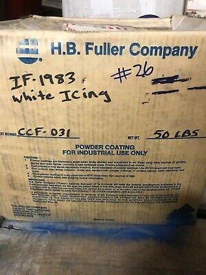 26 White Icing Powder Coating Paint - New 1lb
