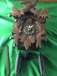 Hand Carved Black Forest German Cuckoo Clock Vintage