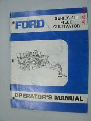 Ford Series 211 Field Cultivator Operators Manual