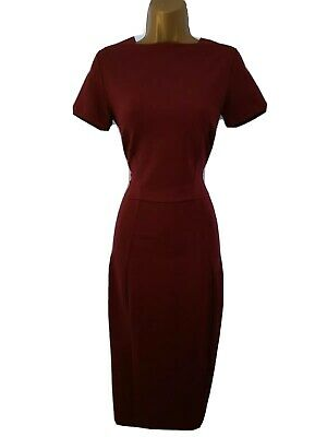 Iris & Ink The Outnet Size UK 6 BNWT Stunning Maroon Pencil/Wiggle Dress 0149