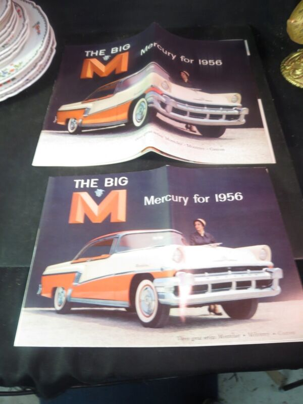 2 Original 1956 Mercury Montclair, Monterey, Custom Sales Brochures