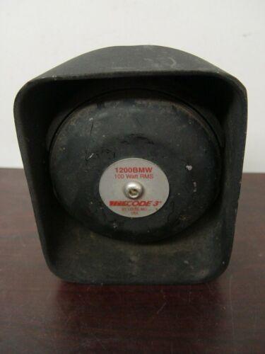 CODE 3 1200BMW 100 Watt RMS Police Motorcycle Siren Speaker 1200RT BMW
