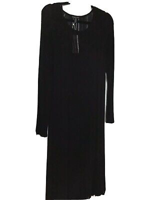 Eileen Fisher Long sleeve Pullover Knit Midi  Dress, Size L