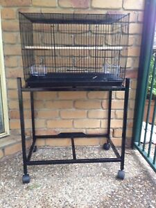 Brand New 60cmx40cmx40cm flight cage & trolley -Black or white; eftpos Meadowbrook Logan Area Preview