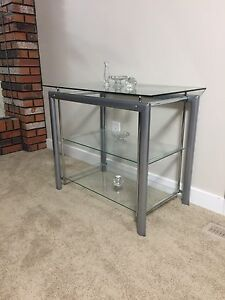 Glass Tv stand for sale 50$