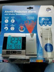 WT-5220U-IT La Crosse Technology Atomic Projection Alarm Clock with TX37U-IT NIB