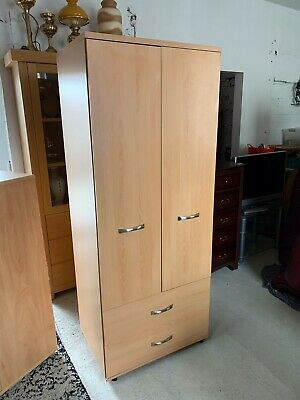 Tall Bedroom 2 Door Wardrobe With 2 Drawers