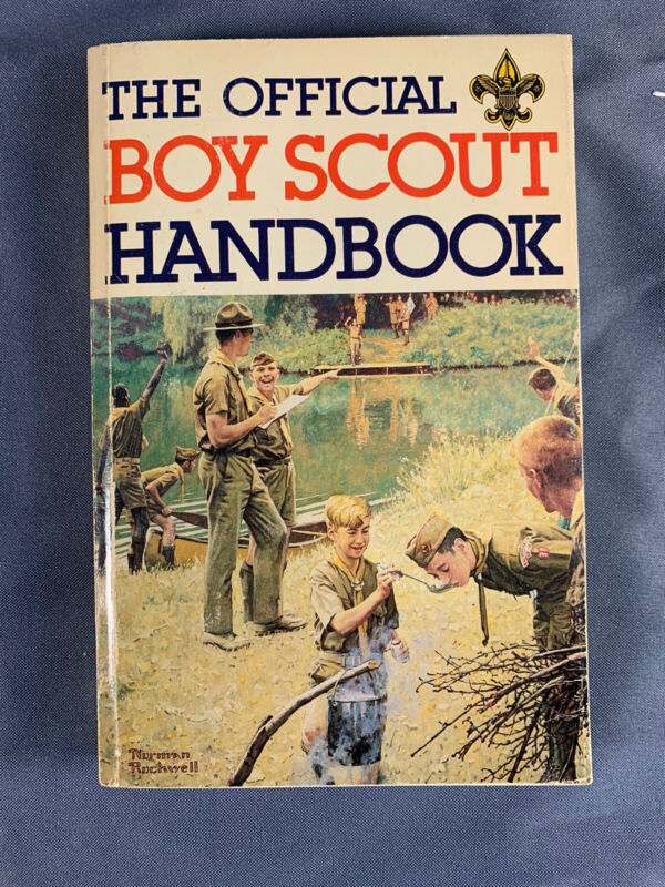 The Official Boy Scout Handbook 1979 9th Edition 2nd Printing Norman Rockwell
