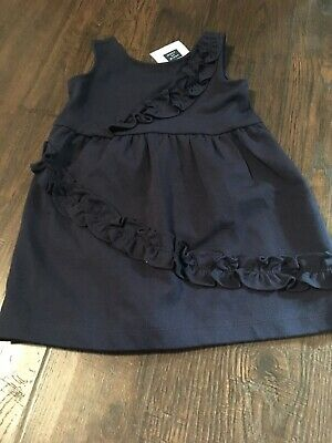 NWT JANIE AND JACK 12-18 Month  Navy Blue Sleeveless dress