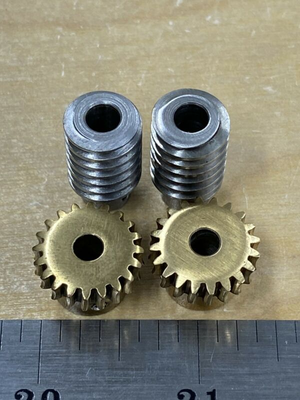 BOSTON GEAR MATCHING BRONZE WORM GEAR SET 20:1 RATIO 32 PITCH 20 X REDUCTION