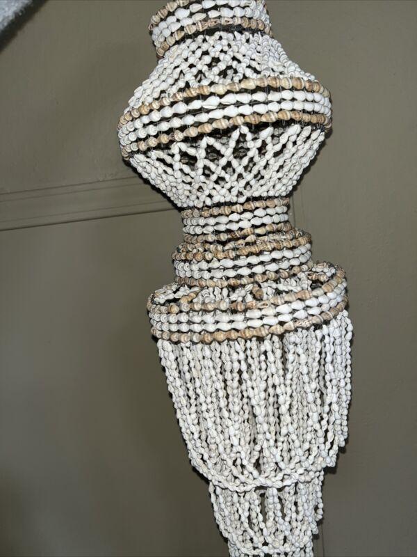 pooka shell chandelier  Vintage Handmade
