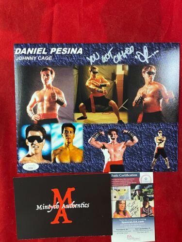 DANIEL PESINA AUTOGRAPHED SIGNED 8x10 PHOTO! MORTAL KOMBAT! JSA! SCORPION!