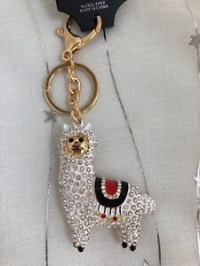 Cute Llama Diamante Keyring Rhinestone handbag Charm Bling gift lama white   NEW  67f5198cd826