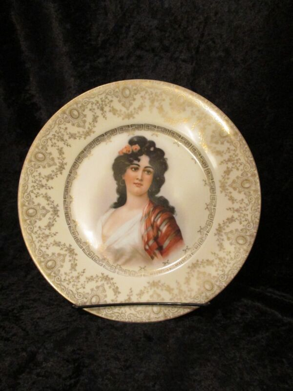 ANTIQUE ROYAL MUNICH PORTRAIT PLATE HAND PAINTED SIGNED AND NUMBERED
