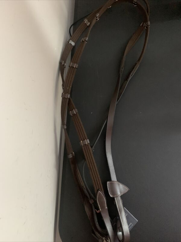 "Dyon D Collection Web Reins 5/8"" brown,full b267brf"
