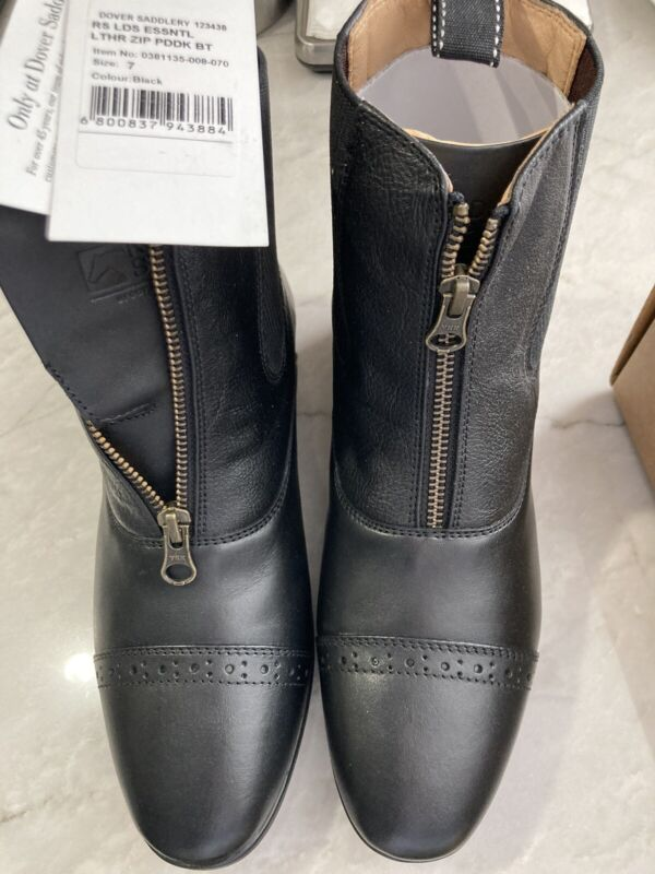 Dover Ladies Essential Zip Paddock Boots 7
