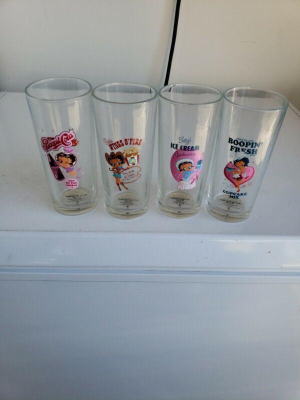 Betty Boop Glasses Set Of 4