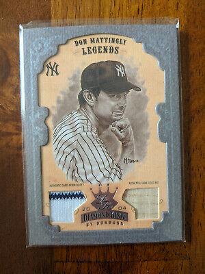2004 Diamond Kings Don Mattingly Framed Jersey/Bat Relic #/30