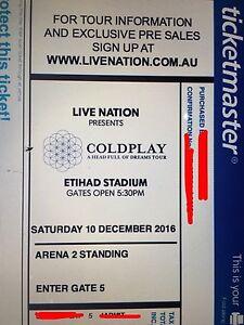 Coldplay GA Tickets (Arena 2) Melbourne, VIC - Sat 10th Dec 2016 Melbourne CBD Melbourne City Preview
