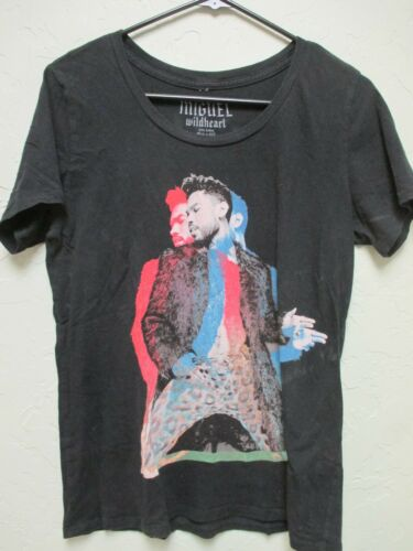Original- MIGUEL Wildheart Tour 2015 USA Concert T-Shirt (Size Small S) Vintage