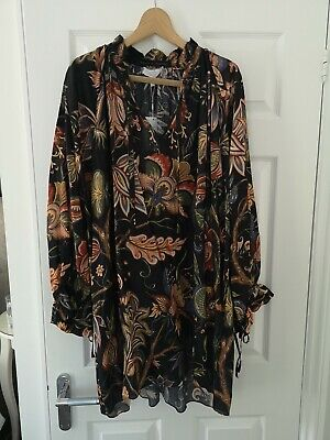 House of Hackney & Other Stories black floral cotton dress small new with tags