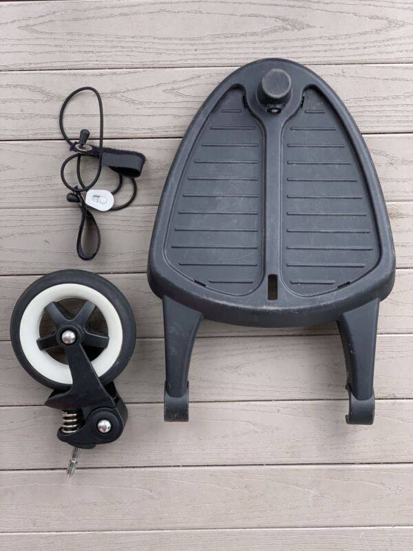 Bugaboo Wheeled Comfort Board Toddler Ride Stand Step On Attachment Stow Strap!
