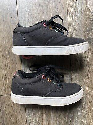 Heelys Girls Size 13 Black Rainbow Rare