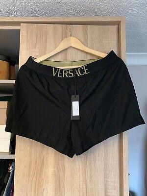 versace designer swimming shorts 100% genuine black size Large