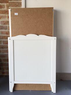 White, wood, IKEA cot Harrison Gungahlin Area Preview