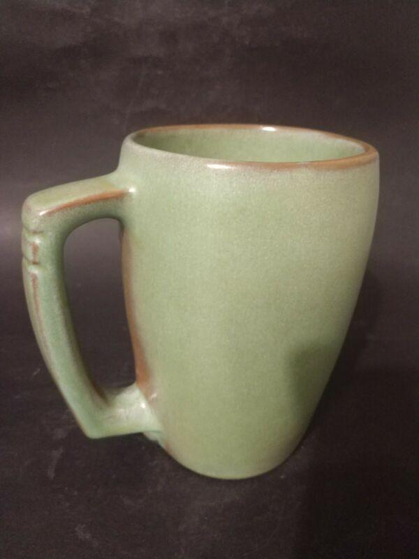 "Frankoma Pottery Prairie Green 5.75"" Coffee Mug #5M Large"